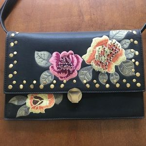 Top shop crossbody pleather floral purse